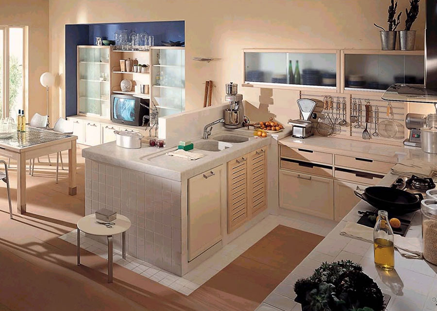 30 Foto di Cucine in Muratura Moderne  MondoDesign.it
