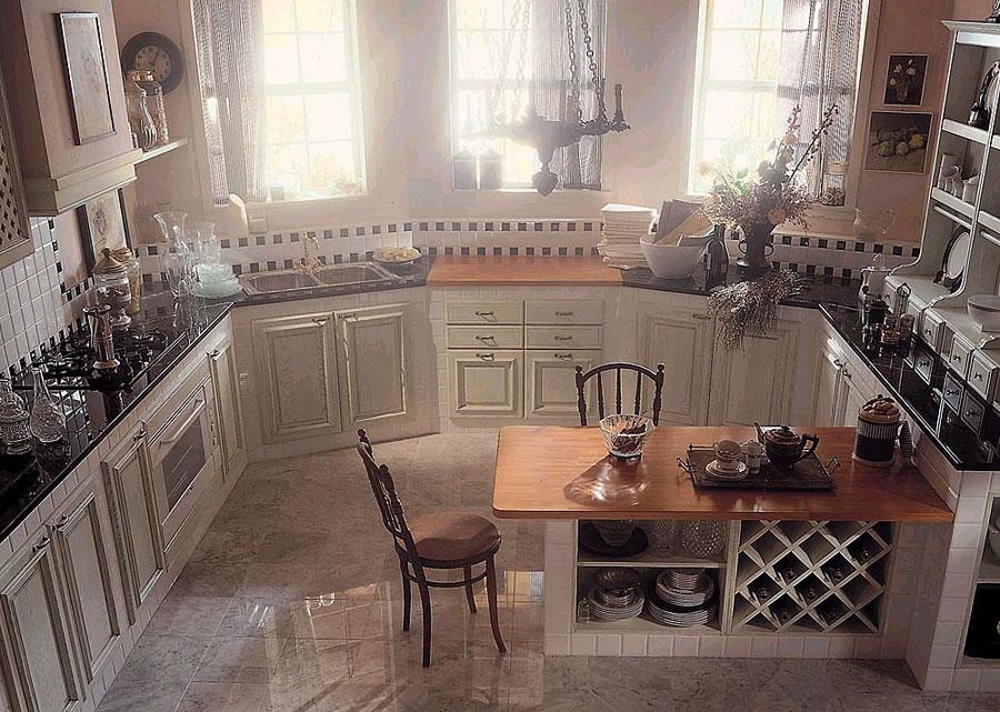 Foto della cucina in muratura moderna n.14