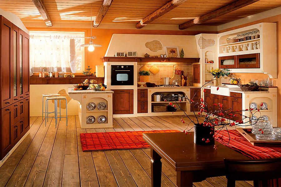 Foto della cucina in muratura moderna n.19