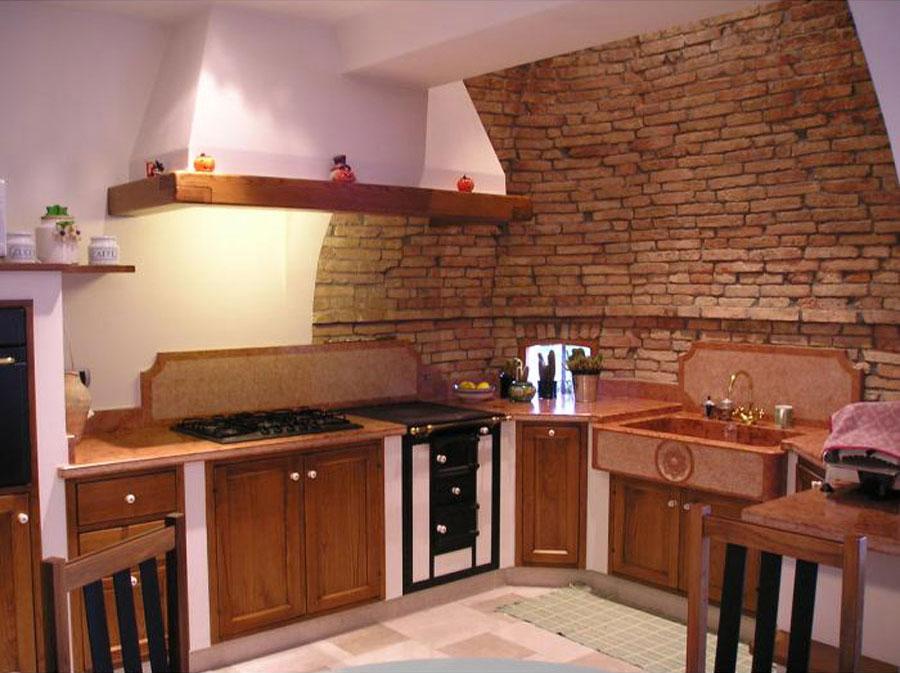 30 foto di cucine in muratura moderne - Rivestimento cucina in muratura ...