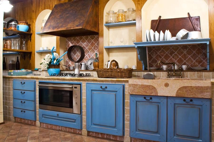 Foto della cucina in muratura moderna n.24