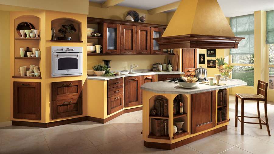 30 foto di cucine in muratura moderne mondodesign it high resolution colors for a kitchen 4 oak kitchen