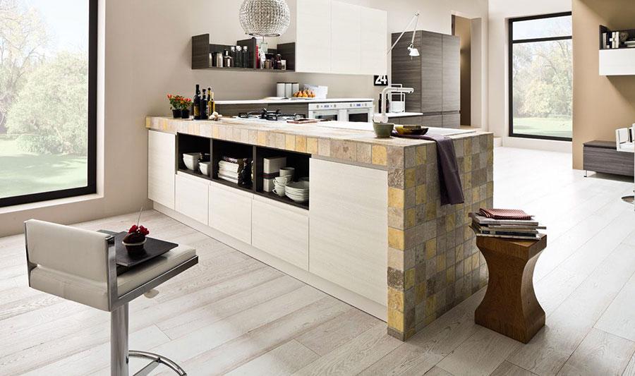 Foto della cucina in muratura moderna n.33
