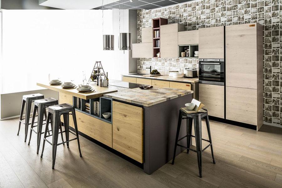 Foto della cucina in muratura moderna n.34