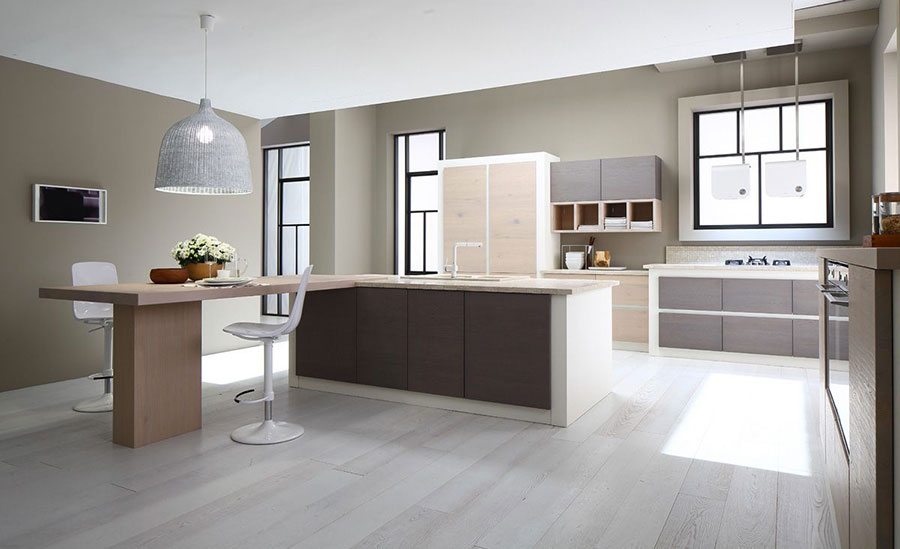 Foto della cucina in muratura moderna n.35