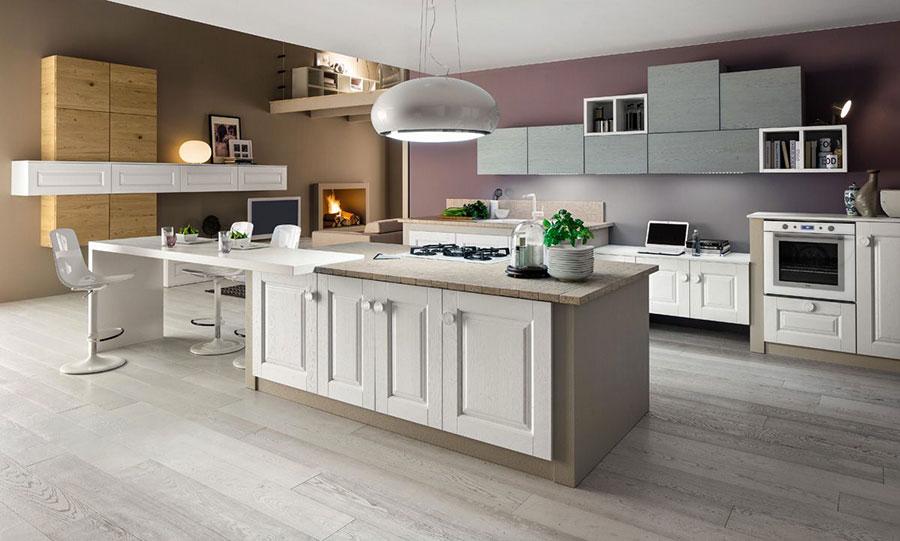 Foto della cucina in muratura moderna n.37