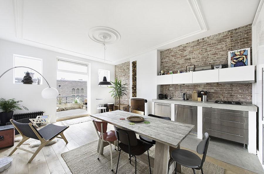 Foto della cucina in muratura moderna n.39