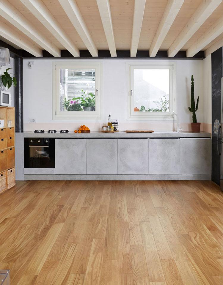 Foto della cucina in muratura moderna n.40