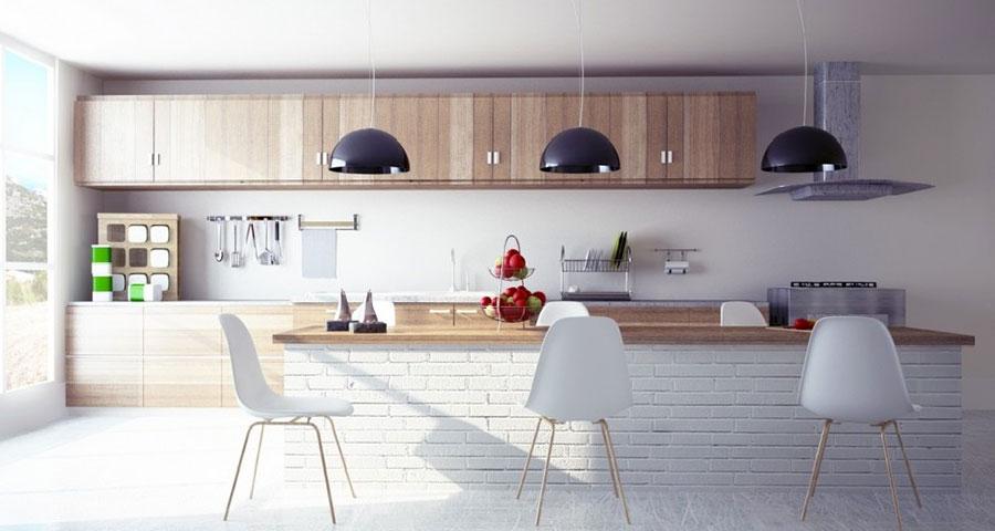 Foto della cucina in muratura moderna n.41