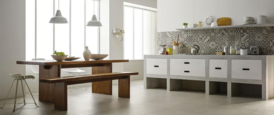Foto della cucina in muratura moderna n.42
