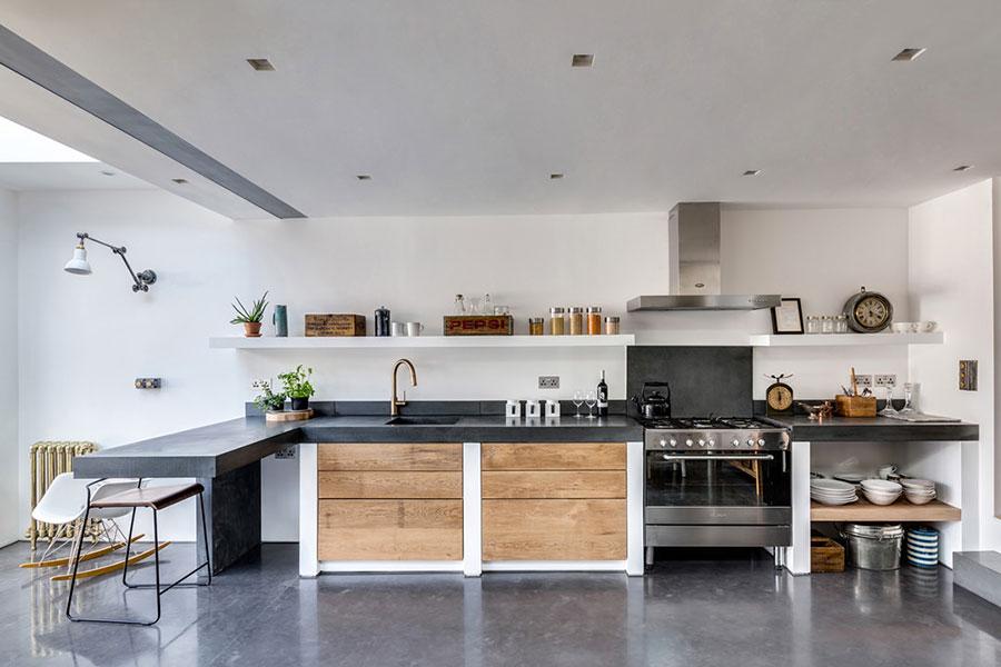 Foto della cucina in muratura moderna n.44