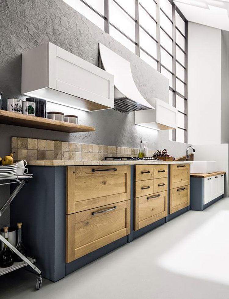 Foto della cucina in muratura moderna n.46