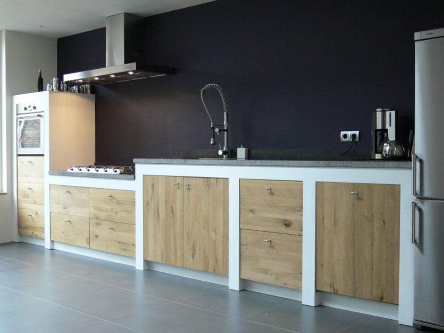 Foto della cucina in muratura moderna n.47