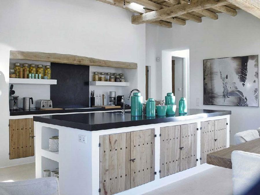 Foto della cucina in muratura moderna n.51