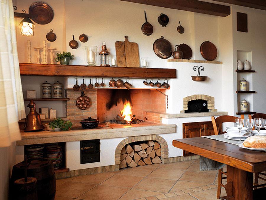 Modello di cucina in muratura rustica n.01