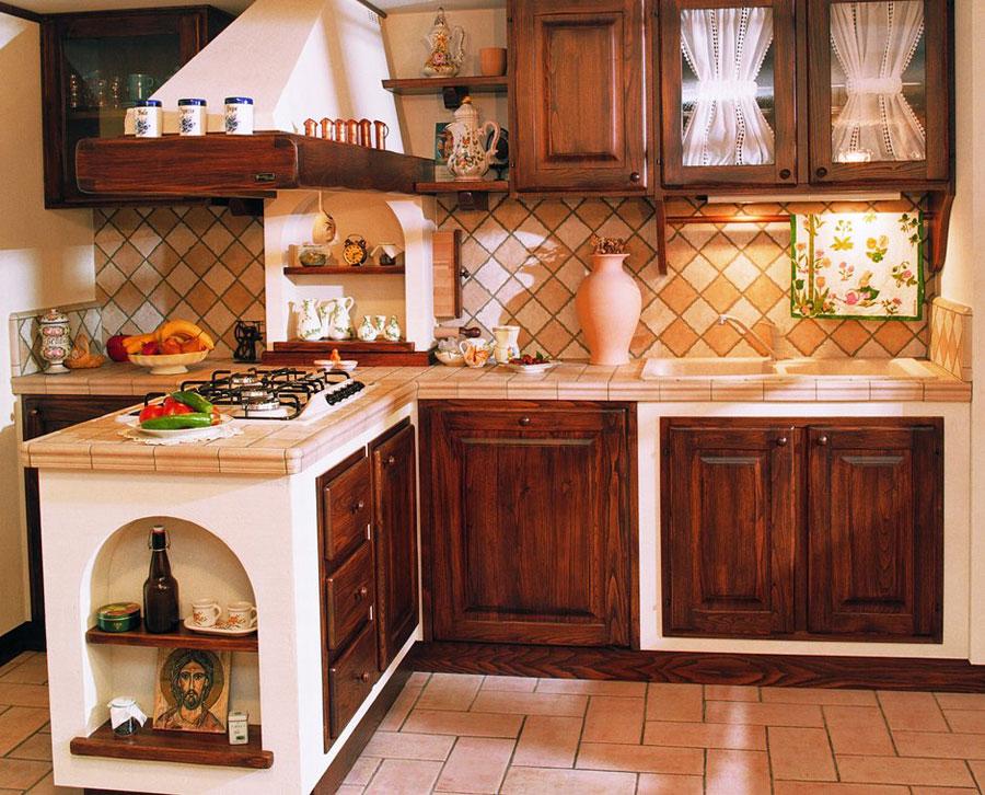 30 cucine in muratura rustiche dal design classico - Piastrelle per cucina in muratura 10x10 ...