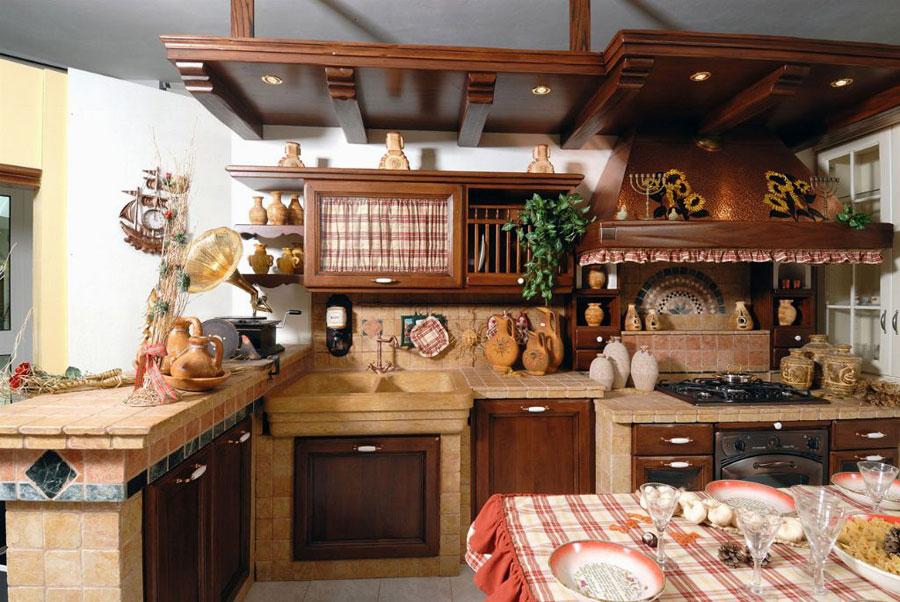Modello di cucina in muratura rustica n.05