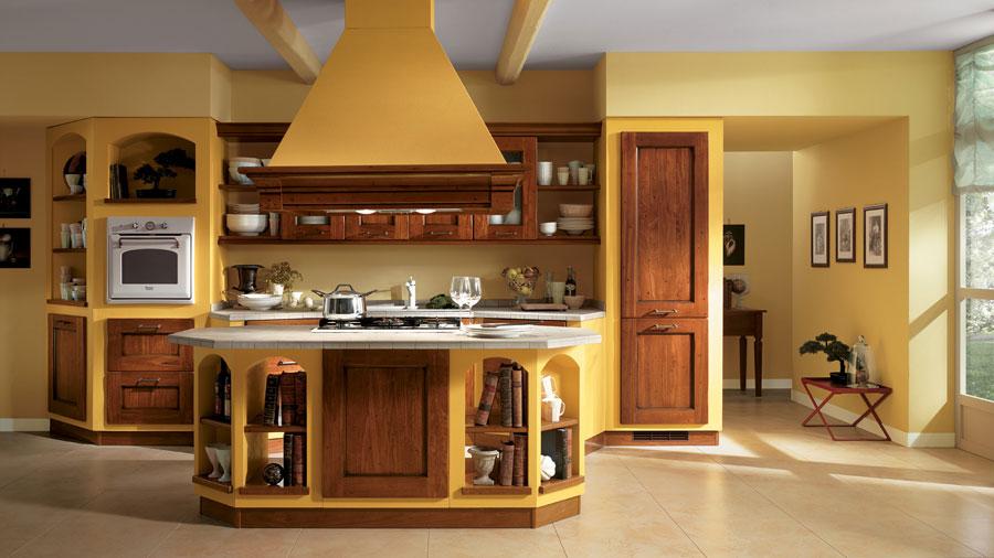 Modello di cucina in muratura rustica n.10