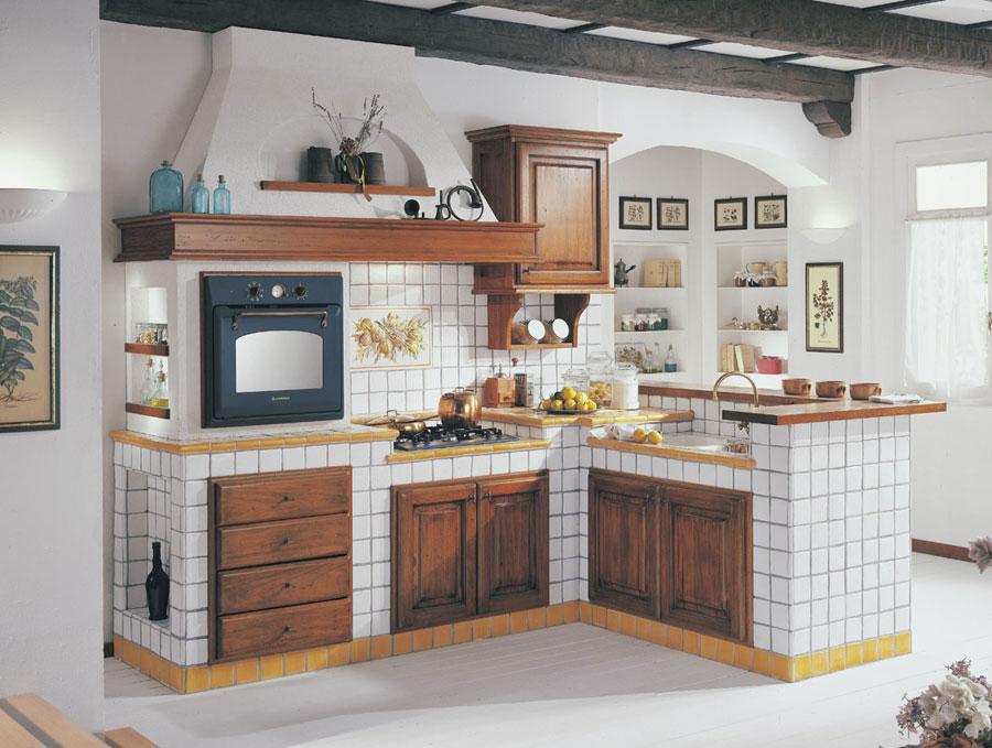 Modello di cucina in muratura rustica n.11