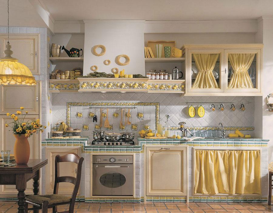 Modello di cucina in muratura rustica n.12