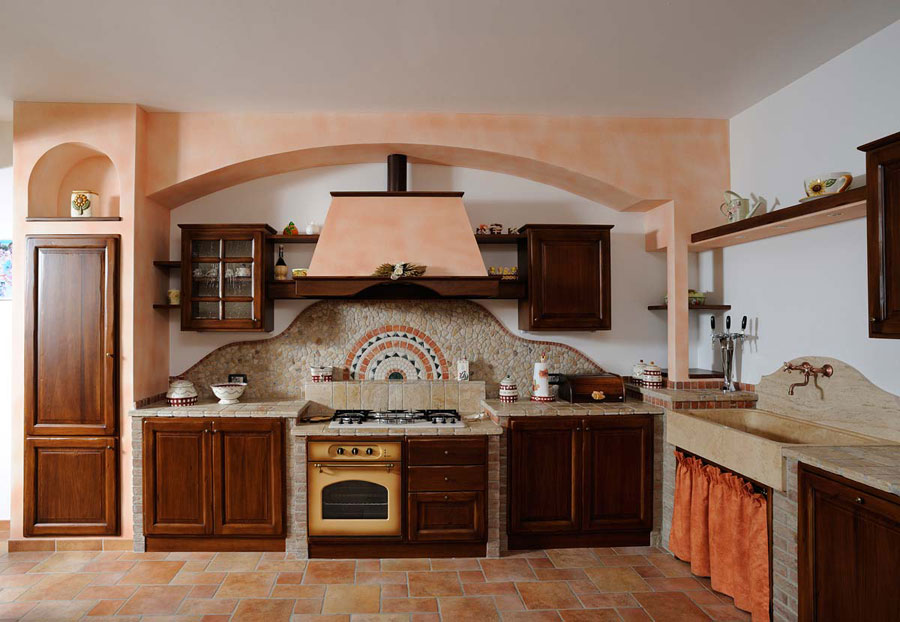 30 cucine in muratura rustiche dal design classico - Immagini cucine moderne ...
