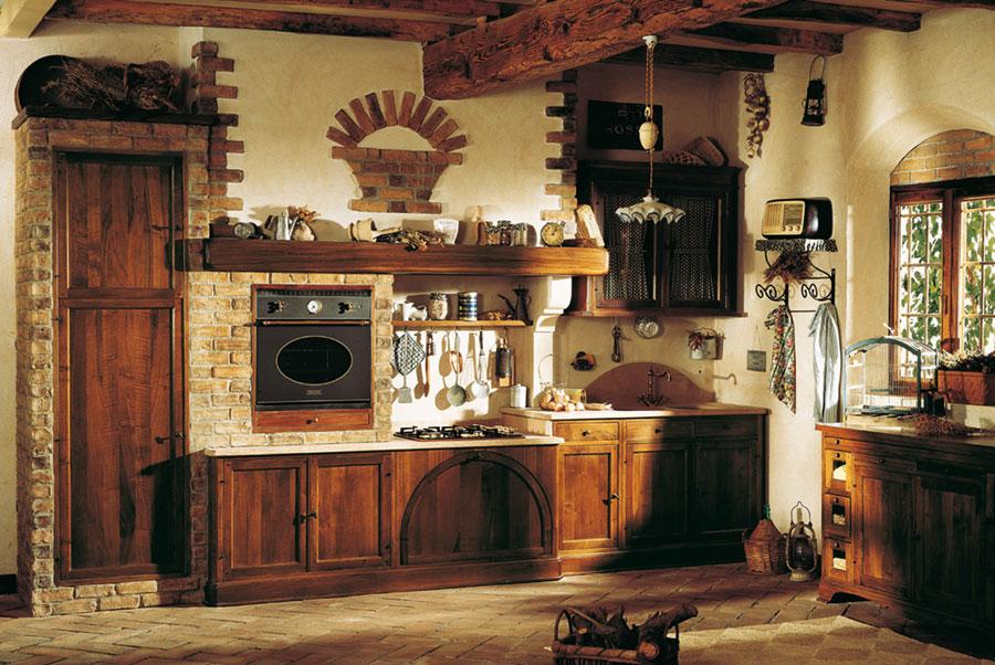 Modello di cucina in muratura rustica n.16