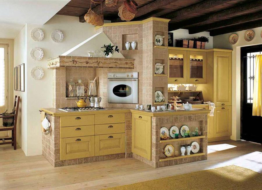 Modello di cucina in muratura rustica n.18