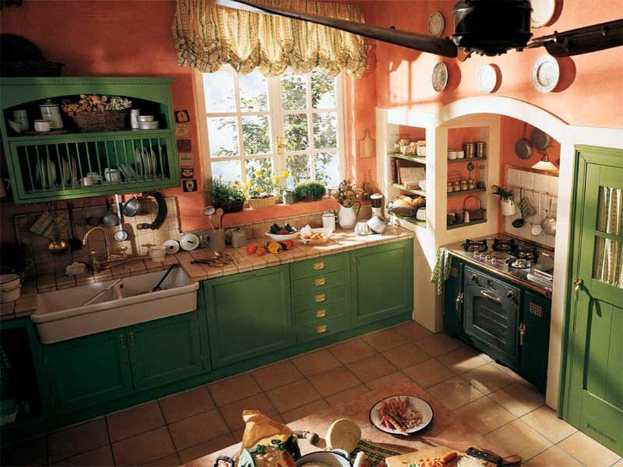 Modello di cucina in muratura rustica n.22