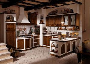 30 cucine in muratura rustiche dal design classico for Piani di casa artigiano molto stretta