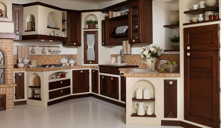 Modello di cucina in muratura rustica n.29