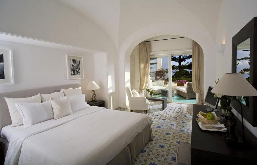 Camera dell'hotel La Minerva a Capri