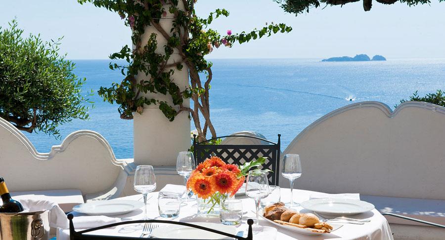 Terrazzo privato dell'hotel Marincanto a Positano