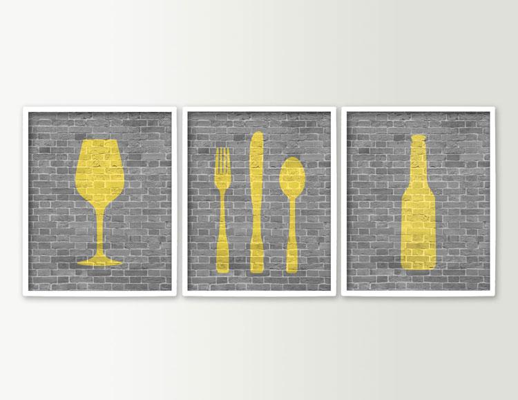 Quadro per cucina moderno e componibile n.12