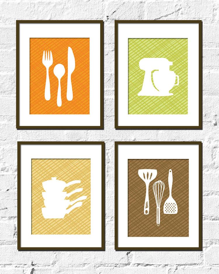 50 Quadri Moderni per Cucina: Stampe su Tela Componibili ...