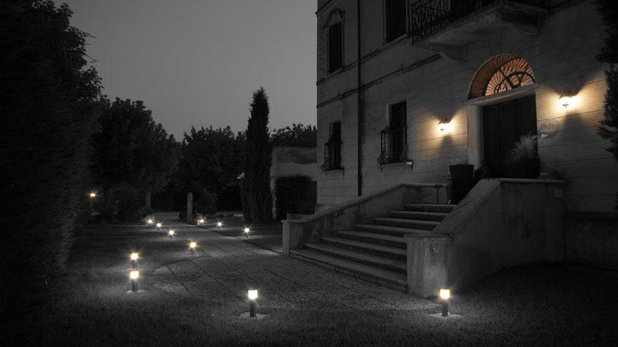 Ingresso dell'hotel Residenza La Villa a Mantova