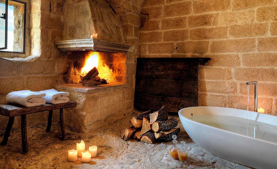 Hotel romantico Sextantio Le Grotte della Civita a Matera