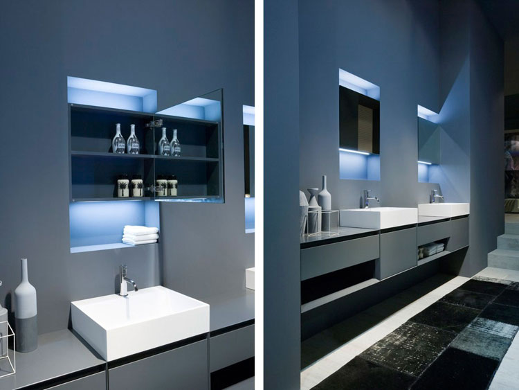 Specchio per bagno dal design moderno n.07