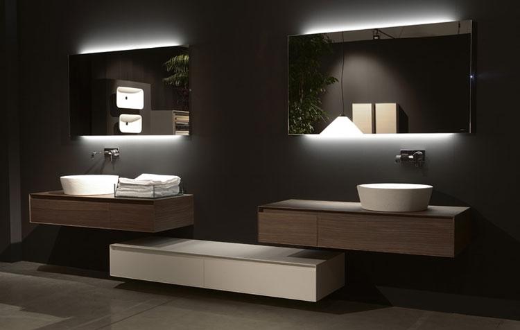 Specchio per bagno dal design moderno n.08