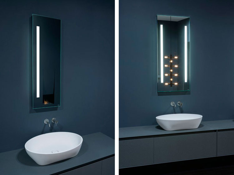50 specchi per bagno moderni dal design particolare - Sottolavello bagno ...