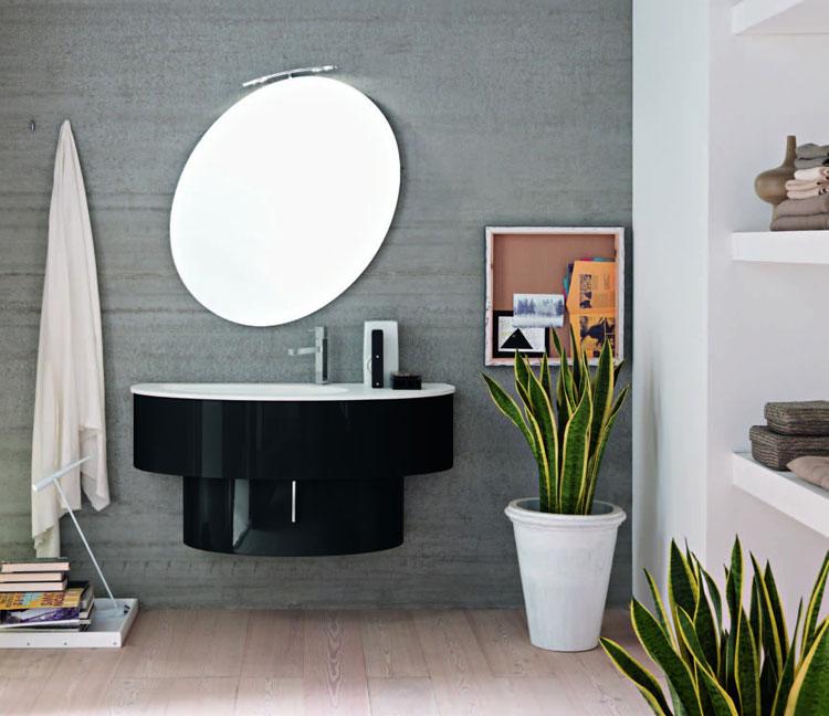 50 specchi per bagno moderni dal design particolare - Specchio ovale per bagno ...