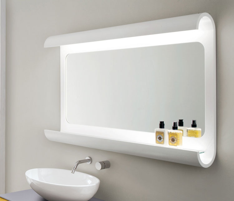 50 specchi per bagno moderni dal design particolare for Espejos para banos leroy merlin
