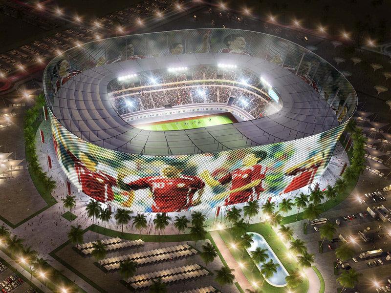 Progetto dello stadio Al Rayyan per Qatar 2022