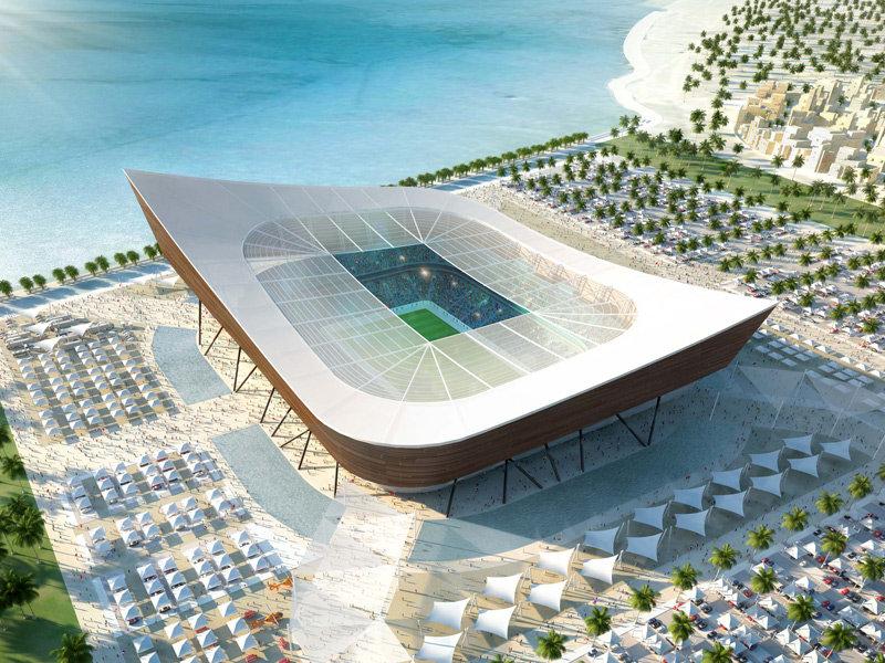 Progetto dello stadio Al Shamal per Qatar 2022
