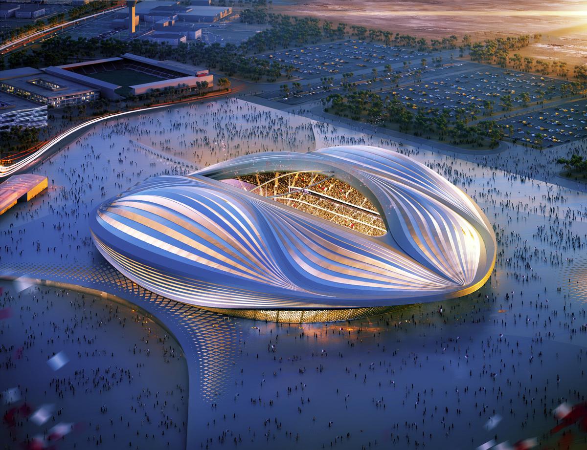 Progetto del secondo stadio Al Wakrah per Qatar 2022