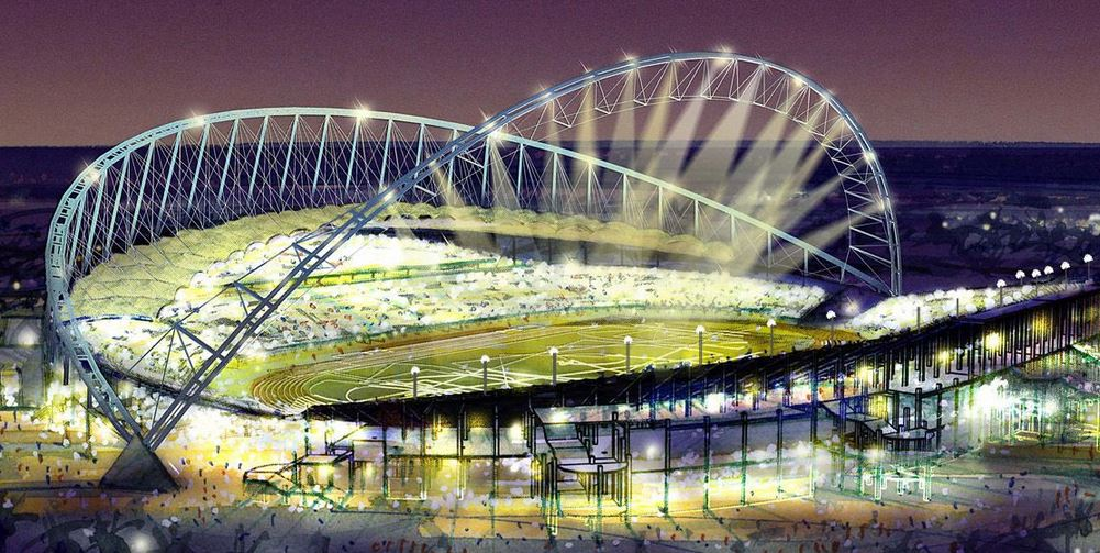 Progetto dello Stadio Khalifa International per Qatar 2022