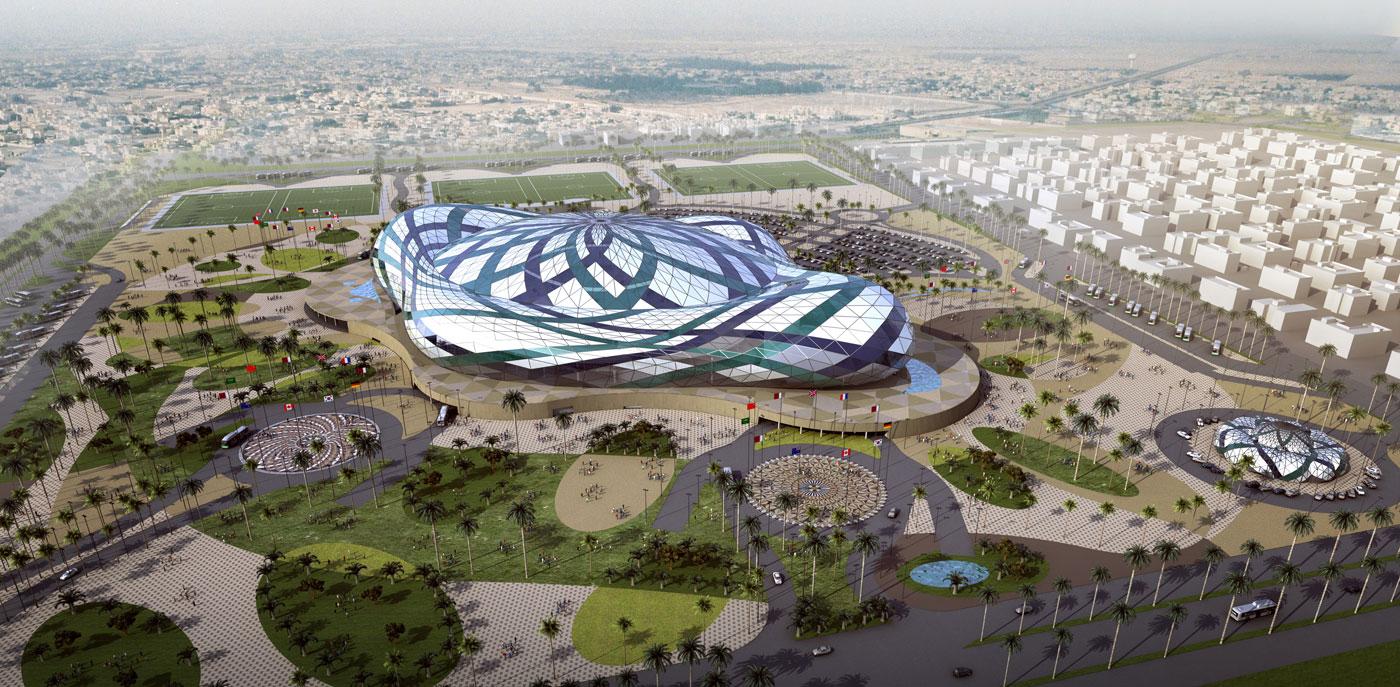 Progetto dello stadio Lusail Arena per Qatar 2015