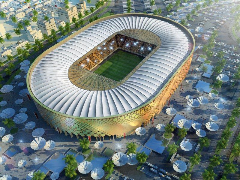 Progetto dello stadio Qatar University per i mondiali