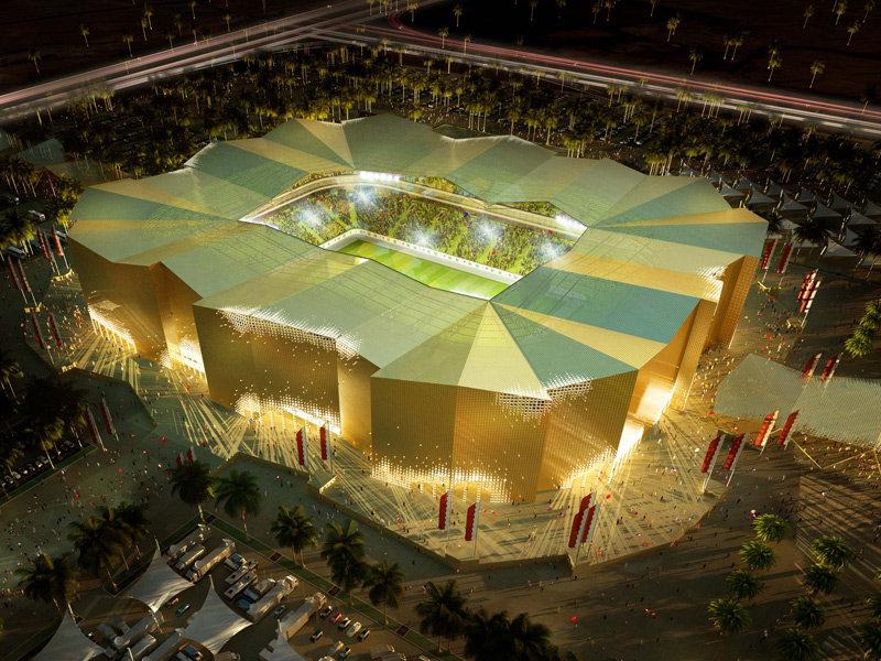 Progetto dello stadio Umm Slal per Qatar 2022