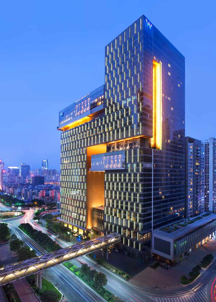Esterno dell'hotel W Guangzhou in Cina