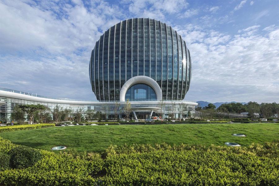 Esterno del Yanqi Lake Kempinski Hotel in Cina